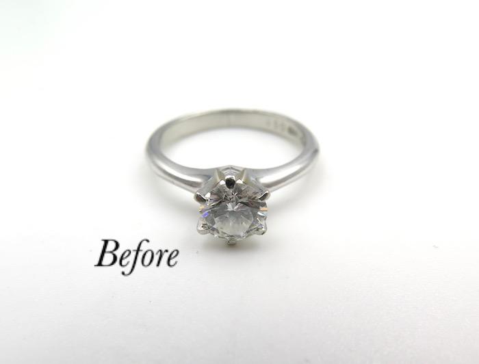 譲り受けた婚約指輪で新たな婚約指輪のご注文