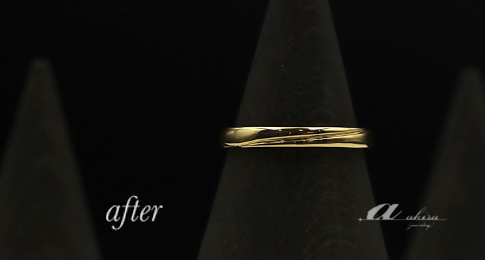 形見の純金リングを溶かして新たな指輪に