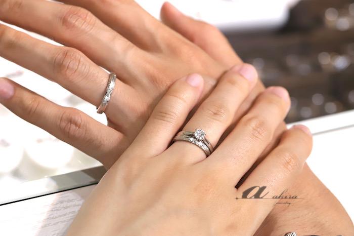 婚約指輪と結婚指輪オーダーのお客様