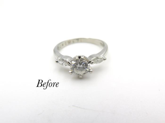婚約指輪を普段使いにプチペンダントへリフォーム
