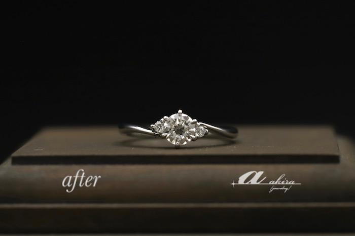 譲り受けたダイヤモンドで婚約指輪へリフォーム