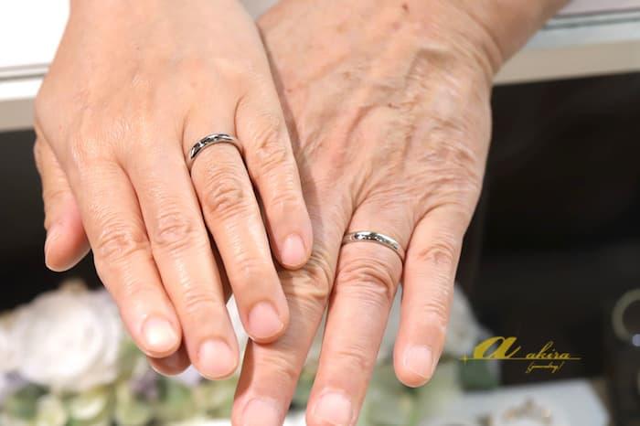 丈夫な結婚指輪が欲しいとの事で鍛造リングのオーダーメイド