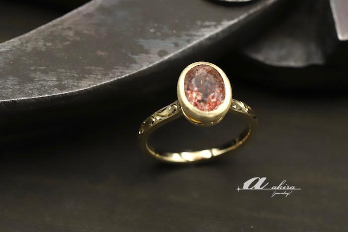 持ち込みの石を使って指輪のオーダーメイド
