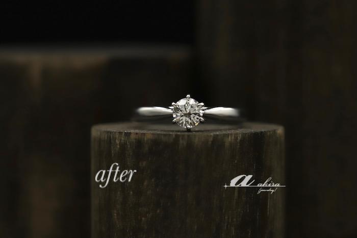 王道の立て爪 婚約指輪のリフォームのご注文でした