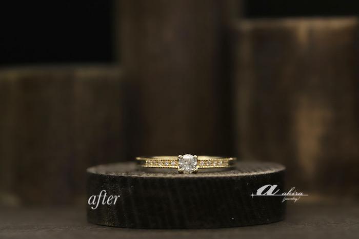 ダイヤモンド3石の入った指輪を使って3点のジュエリーのリフォーム