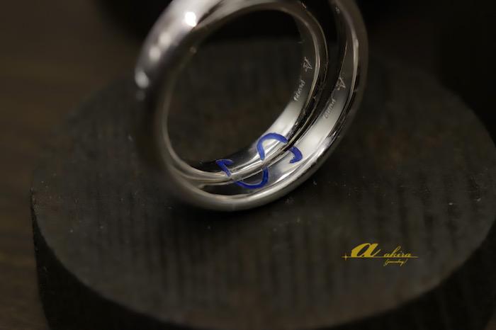 プラチナ鍛造結婚指輪のオーダーメイド