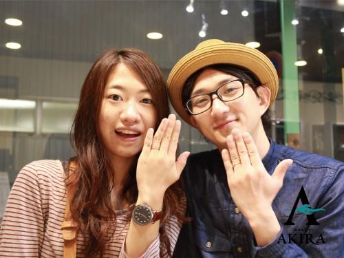 結婚指輪の御納品をさせて頂いた幸せなお二人