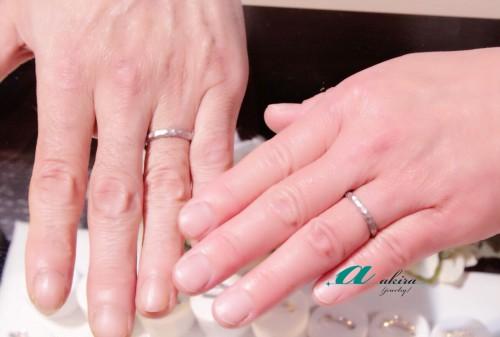 千葉市中央区からお越しのお客様結婚指輪の御納品