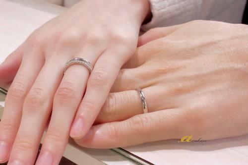 結婚指輪ご注文のお客様写真のご紹介です