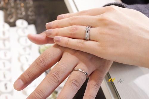 婚約指輪と重ね着け出来る結婚指輪のオーダーメイド