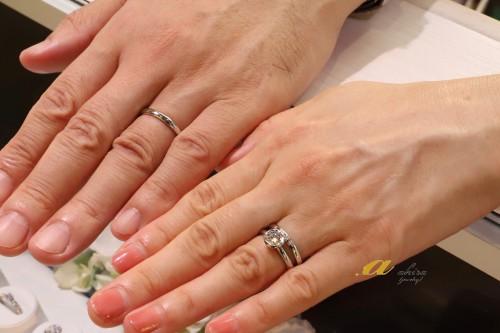 婚約指輪と結婚指輪のオーダーのお客様ありがとうございました