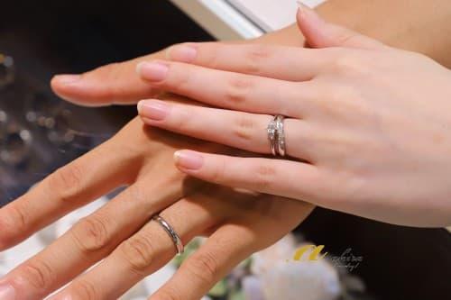 重ね着け出来る結婚指輪、市原市からご来店