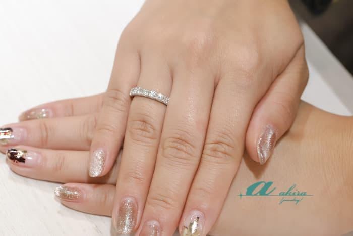 フルエタニティリングのご注文から結婚指輪へ