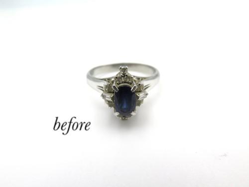 譲り受けた形見のサファイヤの指輪をペンダントに