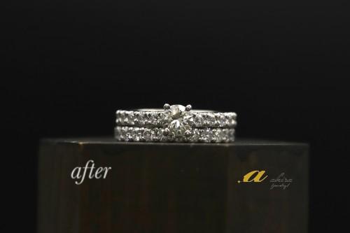 エタニティリングの結婚指輪と重ね着け出来るようにしました