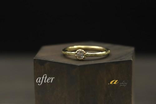 普段使い用の指輪にk18にて制作致しました