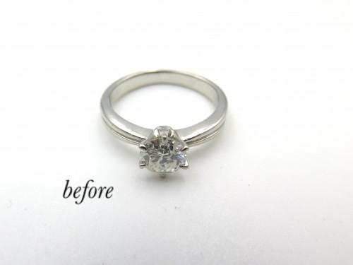 形見の婚約指輪を溶かしてピンキーリングとペンダントに