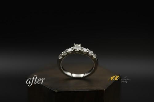 デザインが古く使わずにいた指輪を使いリフォーム致しました