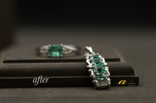 お母様の形見の指輪をペンダントと指輪にリフォーム致しました