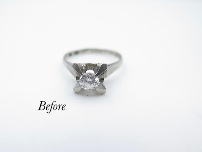 形見のダイヤモンドリングを使いペンダントにリフォーム致しました美浜区からご来店