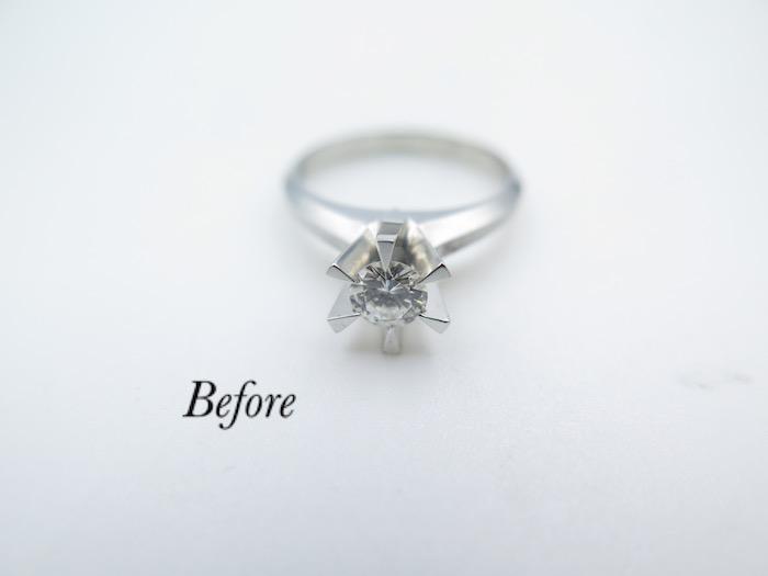 美浜区からお越しのお客様、婚約指輪をリフォーム
