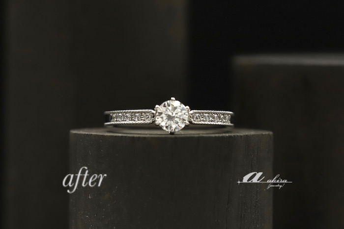 立て爪婚約指輪をリフォーム