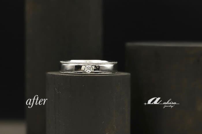 4本の指輪を溶かして1本の指輪にリフォーム
